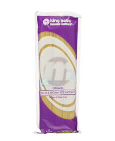king soba BIO gluténmentes köles-barnarizs tészta 250g