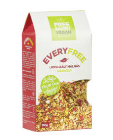 EveryFree gm. liofilizált málnás granola 200g