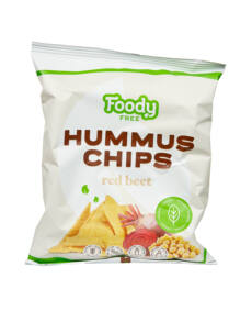 Foody Free gluténmentes hummus chips céklával 50g
